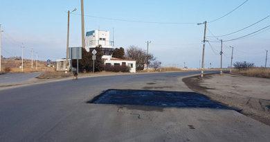Дорогу к Керченской переправе начали латать