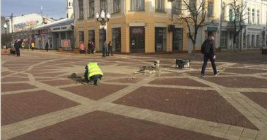 Плитка в центре Симферополя вновь «сползла»