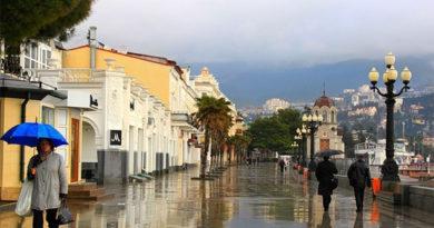 В пятницу в Крыму до 13 градусов тепла, местами дожди