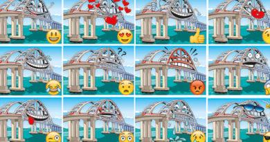 Мост через Керченский пролив стал героем стикеров для мессенджера