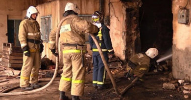 На ночном пожаре в Евпатории спасен человек