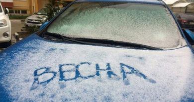 В Крым вернулась снежная зима