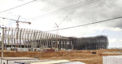 """Будущий терминал аэропорта """"Симферополь"""": 126 уникальных колонн, 6 тыс стеклопакетов и 65 тыс кубов бетона"""