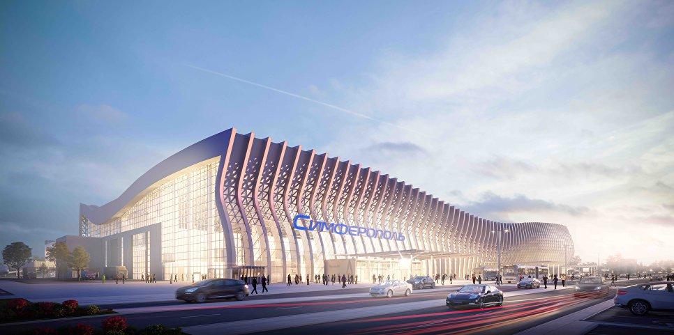 """В аэропорту """"Симферополь"""" появятся сухой фонтан и ландшафтный парк"""