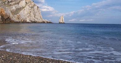 Холодное морское течение отходит от Южного берега Крыма