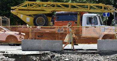 В конце недели в Симферополе приступят к финальной части ремонта ул. Толстого
