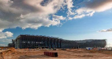 Волнистая форма нового терминала аэропорта Симферополь будет видна даже с воздуха