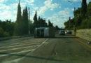 Утренний кувырок: в Алуште ГАЗель опрокинулась на бок